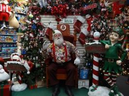 Santa at North Pole, AK