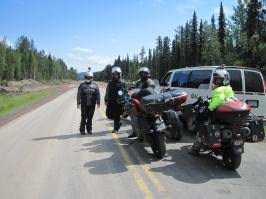 Just waiting on road construction. Somewhere near Watson Lake on the AK Highway