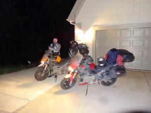 Dirty bikes on return July 27, 2014